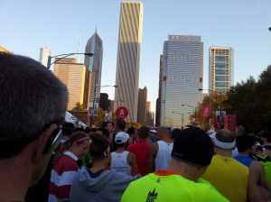 The view from coral B, just me and 40,000 friends out for a run.