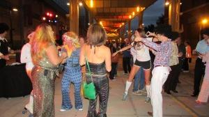 Pre-race disco party.