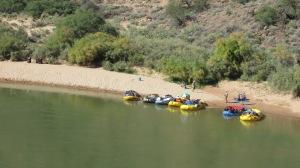 Rafts on the Colorado.
