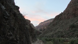 The sunrise as we climbed out of the canyon.