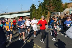 Guy running the full 3:36:30